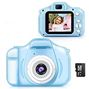 Digital Camera for Kids, Digital Video Camera Rechargeable Shockproof Kids Camera with 2 Inch IPS Screen Toddler Cameras Great Gifts for Kids for 3-10 Year Old Boys Girls (16GB Memory Card Included)