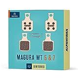 Alphatrail Pastillas de Freno - Magura Typ 8 MT5 & MT7 I Sinterizado Pastilla de Freno MTB con Alto Potencia de frenado y kilometraje I Magura MT5 Magura MT7