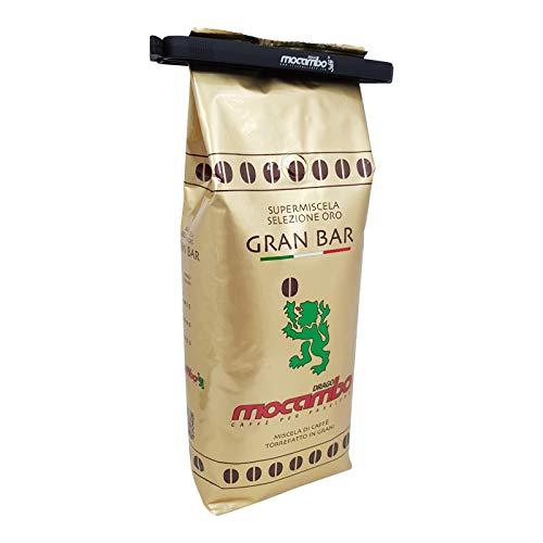 Mocambo Gran Bar Oro Supermiscela inklusive einer Drago Mocambo Kaffeebeutelklammer, 1000g ganze Bohne
