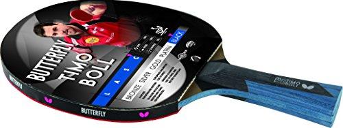Timo BOLL Black Ausgefeilter Tischtennisschläger Butterfly Timo BOLL Black für technisch fortgeschrittene Spieler.