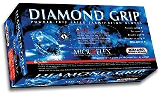 Microflex Diamond Grip Latex Gloves,  X-Large (100 Gloves)