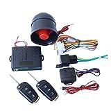 QiKun-Home Alarma de Coche Control Remoto Conjunto de Alarma Ventana de Apertura automática Caja de elevación Bloqueo de Control Sistema de vehículo unidireccional Alarma Negro