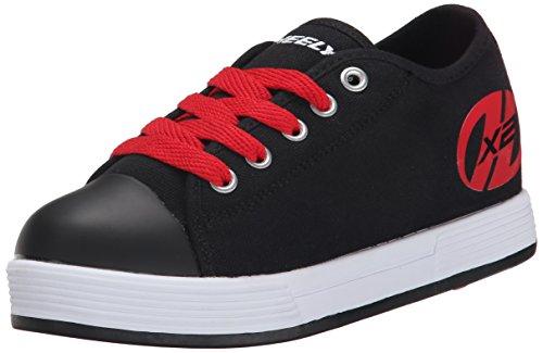 Heelys Unisex Kinder X2 Fresh Turnschuhe, Schwarz (Black/Red), 33 EU