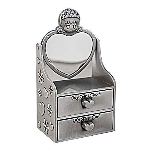 joyeros,Caja de almacenamiento de dientes de hoja caduca lanugo para niños de estilo europeo, caja de almacenamiento de dientes lanugo tipo cajón