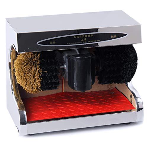 ZHAOJCXJ Automatische Reinigung Schuhputzmaschine, Haushalt Leder Schuhbürste Abstauben Öl Polieren Induktion Edelstahl Platte Poliermaschine (Farbe : Mirror Silver)