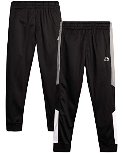 RBX Boys' Sweatpants - Active Tricot Joggers Warm-Up Track Pants (2 Pack), Size 14/16, Black/Black Pannel