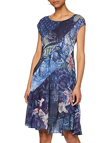 Desigual Damen Dress Short Sleeve Osages Woman Blue Kleid, Blau (Navy 5000), Medium