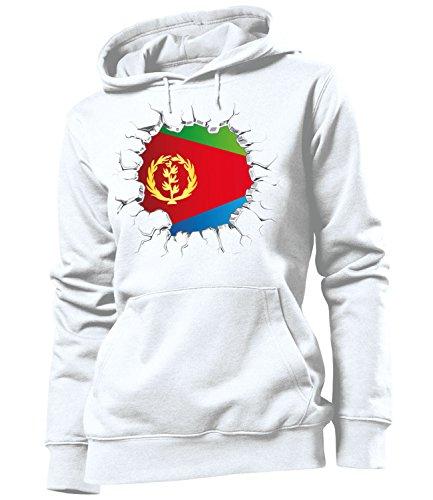 Golebros Eritrea Fussball Fußball Trikot Look Jersey fanhoodie Damen Frauen Hoodie Pulli Sweatshirt Kapuzen Pullover Fan Fanartikel Outfit Bekleidung Oberteil Artikel