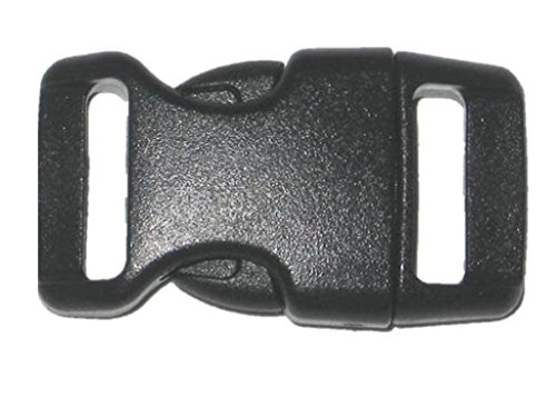 5/8' Contoured Side Release Buckles for Paracord Bracelets Multiple Size and Quantity (Black, 10 Pack)