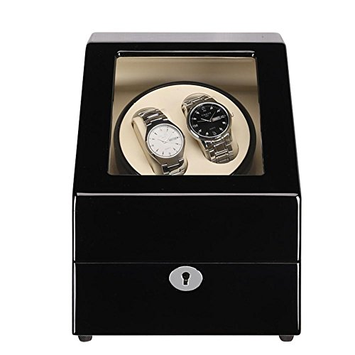 SJGNB 2 +3 Shaker Carbon Fiber Watch Box Motor Rotary eléctrico Akira Caja de madera Self-winding Box Jewelry HD Acrílico...