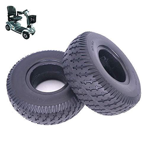 Neumáticos amortiguadores para patinetes eléctricos 9x3.50-4 Neumáticos sólidos antideflagrantes, Goma de Poliuretano...