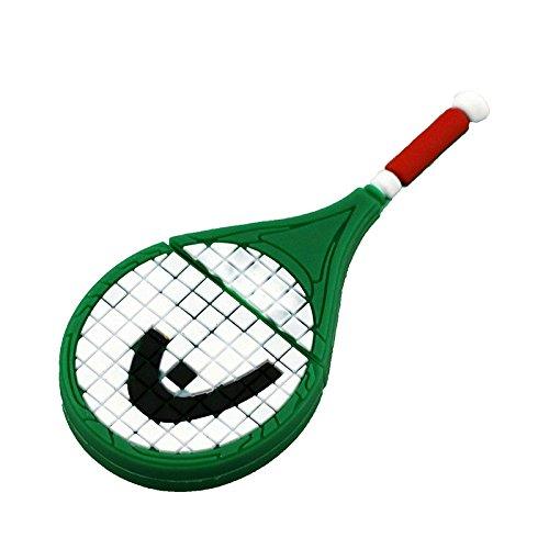 16GB Pendrive Cartoon Green Raqueta de Tenis USB Flash Drive Memory Thumb Stick