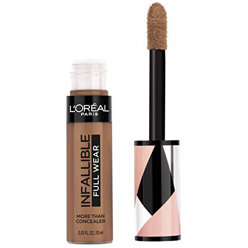 L'Oréal Paris Makeup Infallible Full Wear Concealer, Full Coverage, EXTRA LARGE Applicator, Waterproof, Multi-Use Concealer to Shape, Cover, Contour & Sculpt, Matte Finish, Chestnut, 0.33 fl. oz.