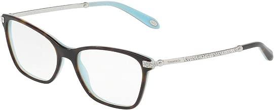 Tiffany & Co TF2158B - 8134 Eyeglass Frame HAVANA/BLUE w/ Clear Demo Lens 52mm