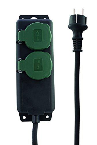 Rev Ritter 0512467555 Steckdosenleiste 2-fach IP44 mit Kinderschutz 1.4 m