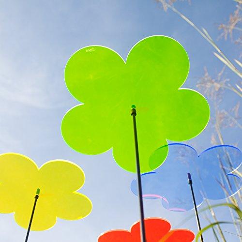 """SUNPLAY """"Sonnenfänger Blumen"""" im FARBMIX, 5 Stück zu je 10 cm Durchmesser im Set + 35 cm Schwingstäbe - 3"""