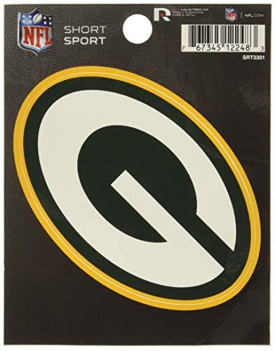 NFL Rico Industries Die Cut Team Logo Short Sport Sticker, Green Bay Packers