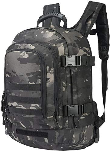 ACOMOO Expandable Backpack 39L-64L Large Tactical Bug Out Bag Wth Waist Strap Black Multicam