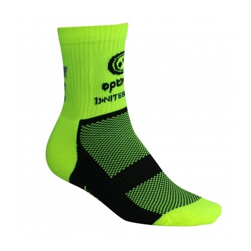 OPTIMUM Unisex Adult Nitebrite Hi-Viz Winter Cycling Socks, Fluorescent Yellow, Size 3-6