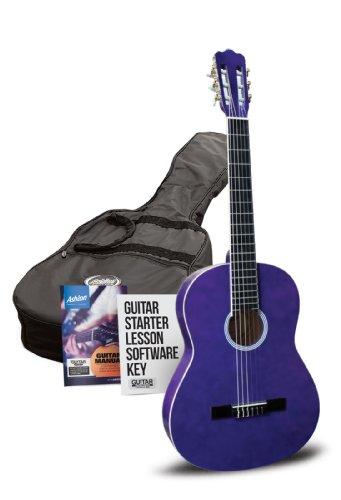 Ashton 1/2 Guitarra clásica de unidades con accesorios - morado