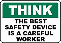 最高の安全性は慎重です 金属板ブリキ看板警告サイン注意サイン表示パネル情報サイン金属安全サイン