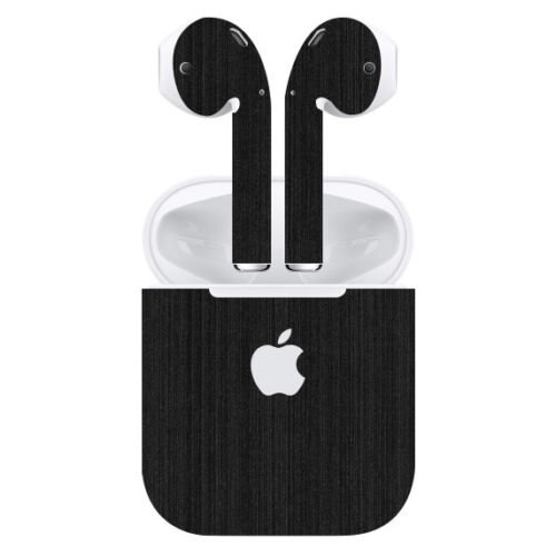 Gadgets Wrap 040318F1-115 Titanium Skin Sticker for Apple Airpods (Black)