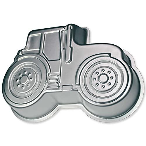 Backform Traktor Bulldog süßer Trekker 3D Kuchenform aus Aluminium für Kindergeburtstag Traktorkuchen Traktortorte