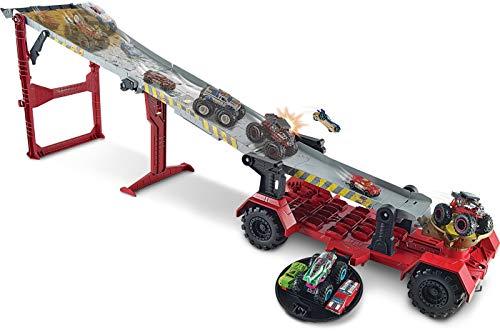 Hot Wheels Monster Trucks Carreras con cuesta abajo, pistas de coches de juguetes, edad recomendada: 4 años y más (Mattel GFR15)