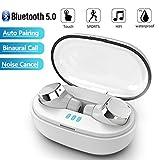 ZY Echte Drahtlose Bluetooth Earbuds, Mini-HiFi-Stereo TWS Noise Reduction Headset, Berühren Laufsport Earbuds Mit 400MAH Ladebox, IPX5 Wasserdicht,Weiß
