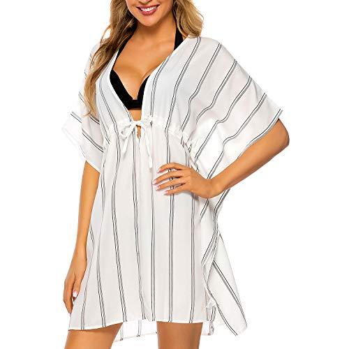 Tacobear Mujer Pareos Playa Traje de Baño Verano Vestido de Playa Sexy Bikini Cover up Camisola de Playa para Mujer