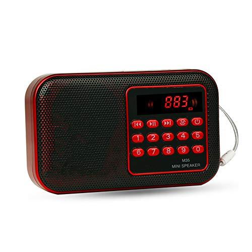 Mini FM Radio, Bewegliche Digital Radio Lautsprecher-MP3-Player Mit 3,5-Mm-Kopfhörerbuchse Unterstützung U Disk/TF-Kartenspiel Für Lieder Zu Hören/Freizeit/Morgengymnastik