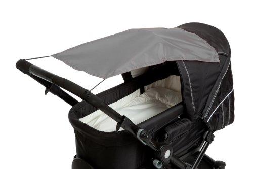 Altabebe AL7010-11 Sonnensegel mit UV Schutz für Kinderwagen/Buggys, dunkelgrau