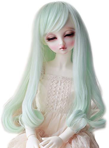 Linfairy 8-9 inch 1/3 BJD Wig Doll Hair SD DZ DD DOD LUTS Long Wig (Mint)