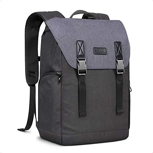 Inateck Schulrucksack Uni Rucksack Laptop Rucksack mit Mehreren Fächern und Anti-Diebstahl-Taschen, 17 Zoll spritzwassergeschützter Rucksack zum Pendeln, Reisen, Uni, Business, Blau