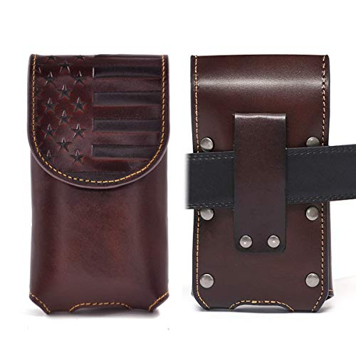 Montana West Genuine Leather Phone Holsters for Men - Western Cell Phone Case Embossed Belt Loop Pride AR RLP-013SCF
