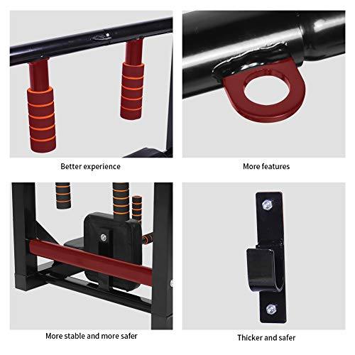 Product Image 5: Newan Pull Up Bar Wall Mounted Chin Up Bar Multi-Grip Full Body Strength Training Workout Dip Bar,Power Tower Set Support to 440Lbs