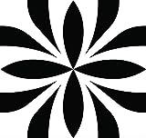 Juego de 24 pegatinas para azulejos de Mi Alma en blanco y negro para baño y cocina, pegatinas de pared fáciles de aplicar, simplemente despegar y pegar decoración del hogar (BOBO, 15 x 15 cm)