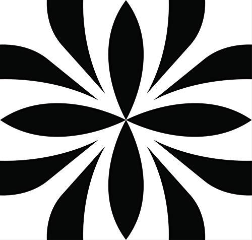 Mi Alma Black & White Collection - Pegatinas para azulejos (24 unidades), diseño de azulejos de baño y cocina, fácil de aplicar, simplemente despegar y pegar la decoración del hogar (BOBO, 10 x 10 cm)