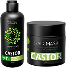 Castor Oil Shampoo & Hair Mask with Pure Dead Sea Minerals Natural Argan Oil Stimulates Hair Growth Repair and Strengthen Damaged Hair