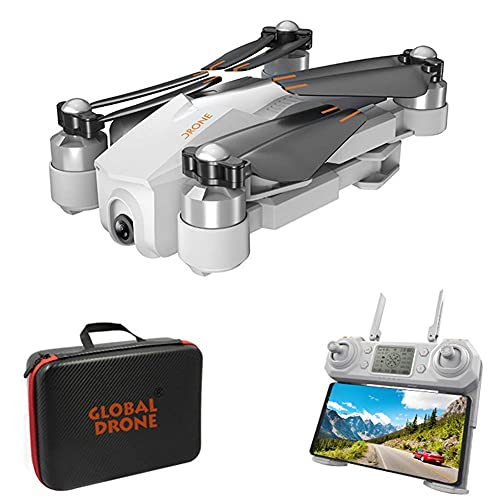 Folding Drone,4K 1080P HD Camera Best Drone,with Altitude Hold,Take Off and Land with One Click Gesture Photos and Videos for Beginners,White