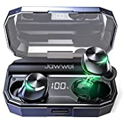 【最新型Airoha A1532ブルートゥースチップ採用・電池残量LEDディスプレイ表示・120時間連続駆動】Bluetoothイヤホン ワイヤレスイヤホン ブルートゥースイヤホン Hi-Fi 高音質 Bluetooth 5.0 EDR 搭載 IPX7防水 Siri 音声認識アシスタント CVC8.0ノイキャン AACオーディオ対応 自動ペアリング 4000mAh 大容量充電クレードル バッテリー残量表示 LEDディスプレイ表示 技適認証済/Siri対応 iPhone/ipad/Android対応