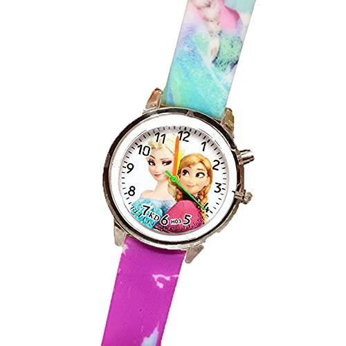 Reloj Niño Yuan Ou Reloj para niños de Dibujos Animados Reloj de Pulsera de Cuarzo con cinturón de Silicona con Estampado para niños Reloj de Pulsera para niños Relojes para niños 0