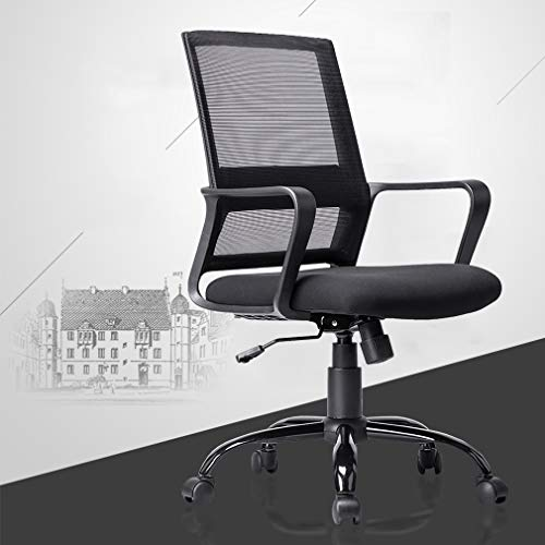 Ergonomic Office Chair Desk Chair Mesh Computer Chair with Lumbar Support Arms Modern Executive Rolling Swivel Mid Back Task Chair for Women Adults,Black
