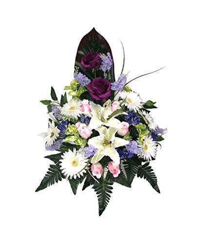 Centro Flores Artificiales Cementerio flores artificiales  Marca LBA