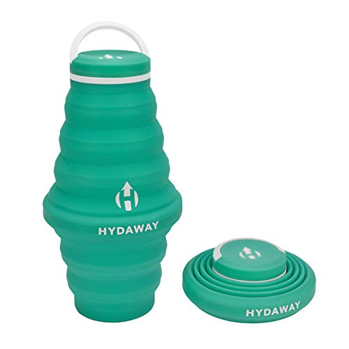 HYDAWAY Collapsible Water Bottle, 25oz Cap Lid | Ultra-Packable, Travel-Friendly, Food-Grade Silicone (Mist)
