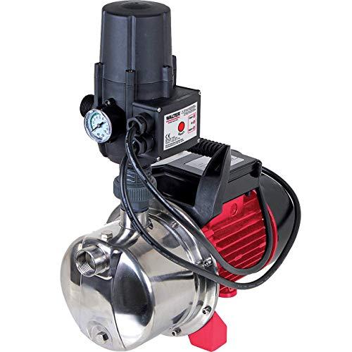 WALTER Hauswasserautomat 1100 Watt, mit integriertem Trockenlaufschutz, Ansaughöhe 8 Meter, Förderhöhe 45 Meter, Kapazität 460 l/h, Förderdruck ca. 4,5 bar