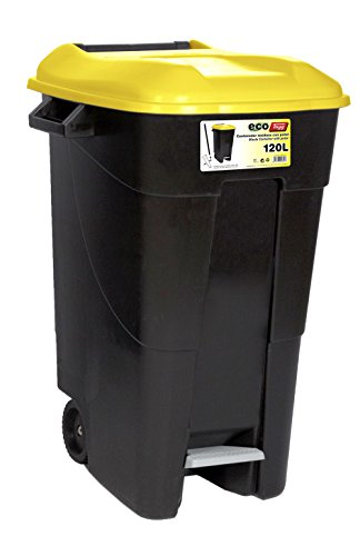 Tayg EcoTayg 120 AM - Contenedor de residuos, Amarillo, 120 l