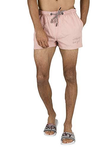 Superdry de los Hombres Shorts de baño de Sorrento Pastel, Rosado