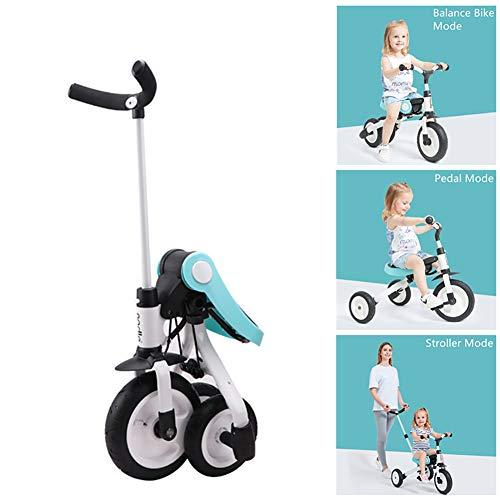 Smart panda Dreirad-Fußstütze - Kinder-Dreiradwagen 2-3-6 Jahre altes Fahrrad Leichter zusammenklappbarer Kinderwagen