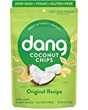 Dang Toasted Coconut Chips | Original | 4 Pack | Vegan, Gluten Free, Non GMO, Healthy Snacks Made with Whole Foods | 3.17 Oz Resealable Bags